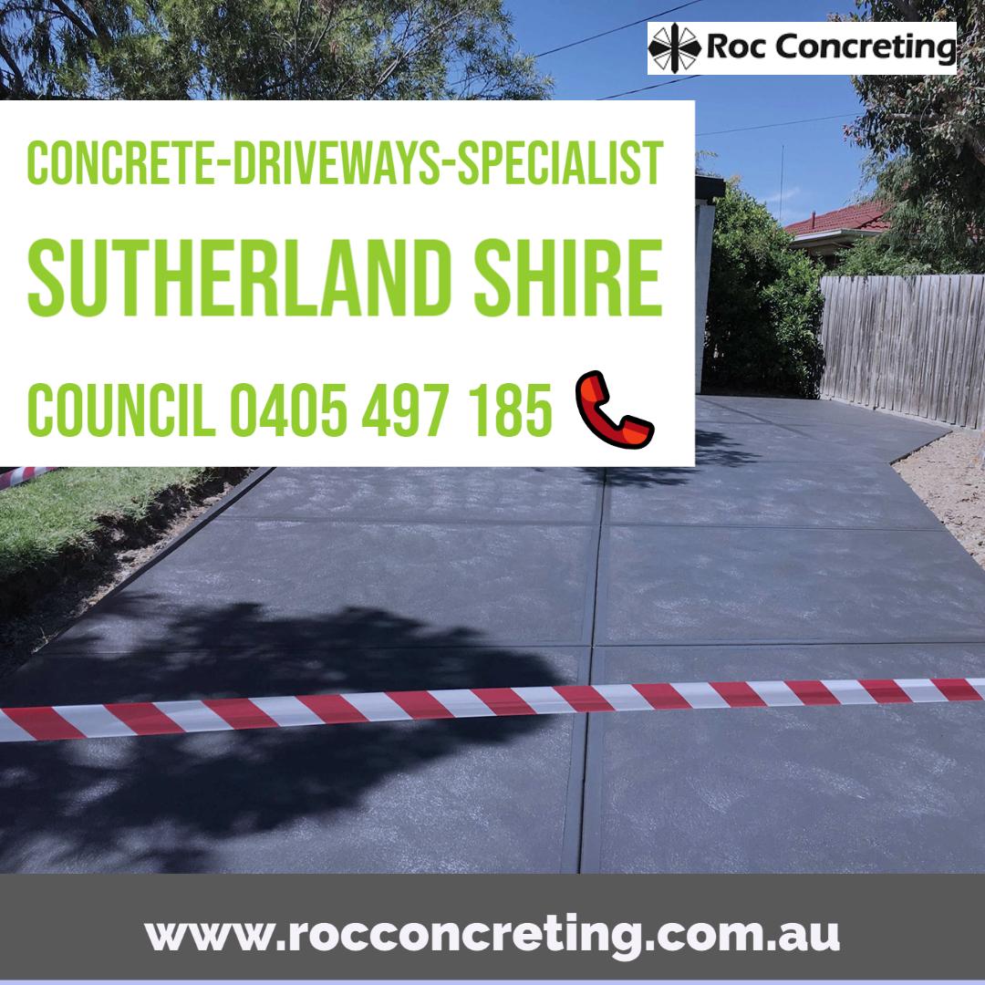 Concrete-Driveways-Specialist Sutherland Shire Council NSW